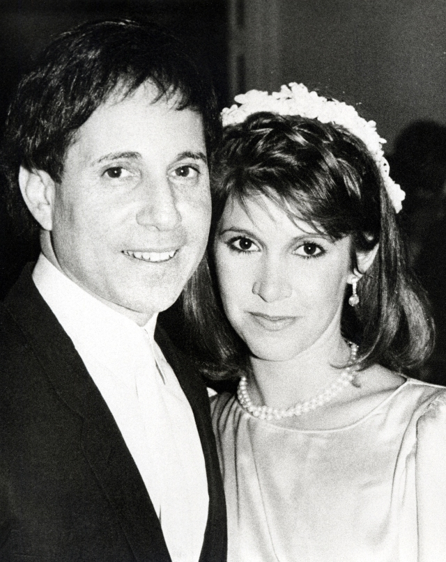 Paul Simon and Carrie Fisher Wedding - August 16, 1983
