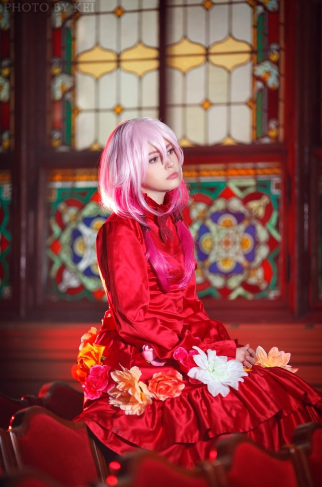 inori_yuzuriha__red_flower_dress_ver___by_faid_eyren-d7vd5xo